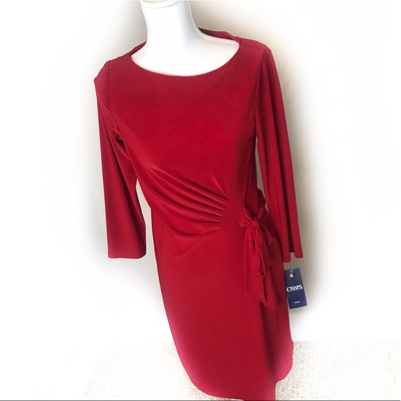 Chaps Dresses & Skirts - CHAPS Red Wrap Dress NWT